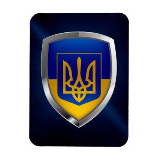 Magnet Flexible Emblème métallique de l'Ukraine