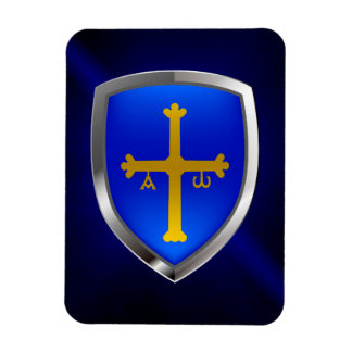 Magnet Flexible Emblème métallique des Asturies