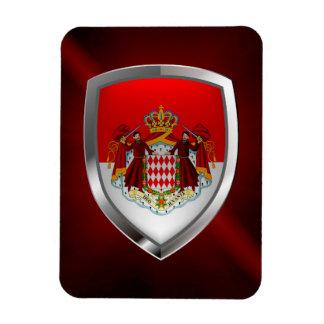 Magnet Flexible Emblème métallique du Monaco