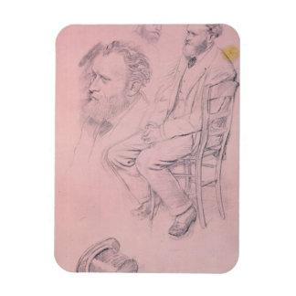 Magnet Flexible Étude d'Edgar Degas | pour le portrait d'Edouard