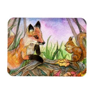 Magnet Flexible Fox de bébé et écureuil