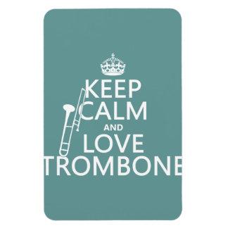 Magnet Flexible Gardez le calme et aimez le trombone (toute