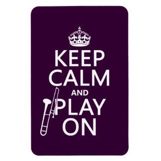 Magnet Flexible Gardez le calme et le jeu sur (trombone) (toute