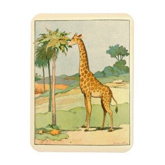 Magnet Flexible Girafe africaine mangeant le feuille d'acacia