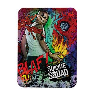 Magnet Flexible Graffiti de caractère du peloton | Diablo de