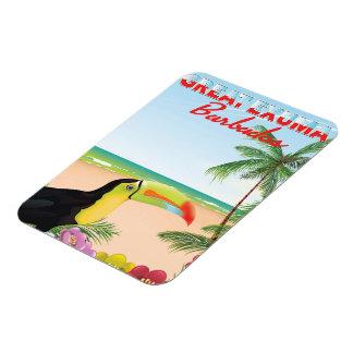 Magnet Flexible Grande affiche de voyage d'Euxma Barbade