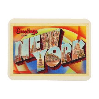 Magnet Flexible Grande carte postale de voyage de lettre de New