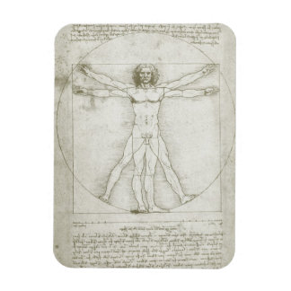 Magnet Flexible Homme de Vitruvian par Leonardo da Vinci