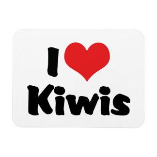 Magnet Flexible J'aime des kiwis de coeur - amant d'oiseau de kiwi