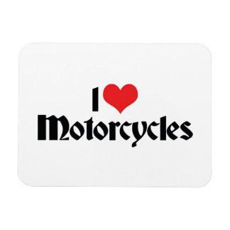 Magnet Flexible J'aime des motos de coeur