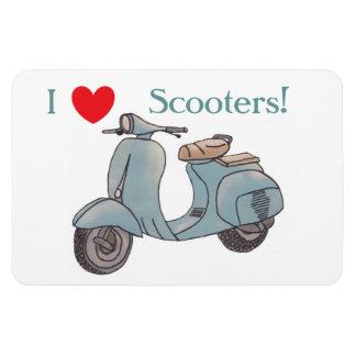 Magnet Flexible J'aime des scooters ! Aimant de Flexi