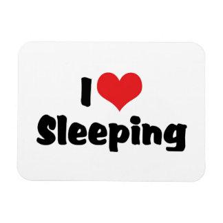 Magnet Flexible J'aime le coeur dormant - amant de sommeil