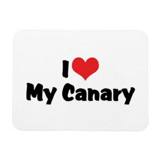 Magnet Flexible J'aime le coeur mon canari