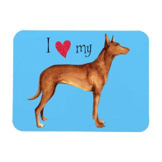 Magnet Flexible J'aime mon chien de pharaon