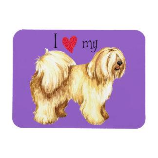 Magnet Flexible J'aime mon Terrier tibétain