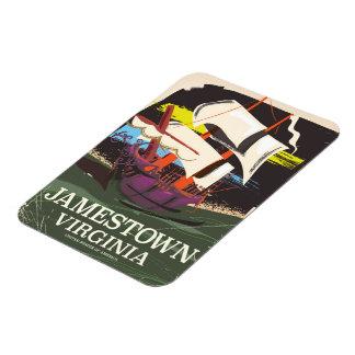 Magnet Flexible Jamestown, la Virginie, affiche vintage de voyage