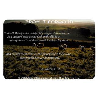 Magnet Flexible Je rechercherai ma citation de bible de moutons