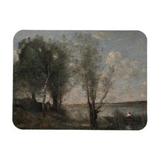 Magnet Flexible Jean-Baptiste-Camille Corot - batelier parmi