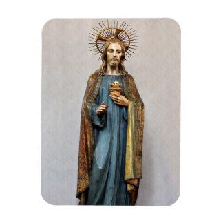 Magnet Flexible Jésus tenant le coeur sacré d'or