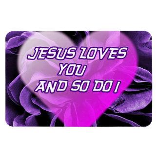 Magnet Flexible Jésus vous aime et ainsi faites l'aimant