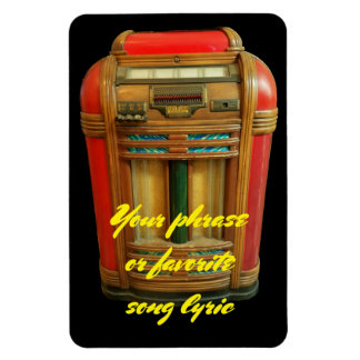 Magnet Flexible Juke-box antique et votre expression