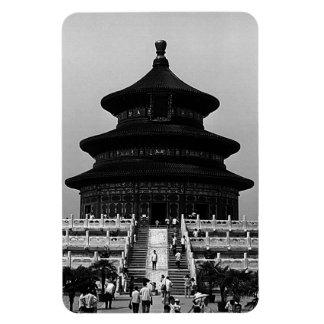 Magnet Flexible La Chine vintage Pekin le temple du Ciel 1970