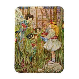 Magnet Flexible La petite fille rencontre des fées,