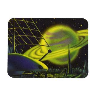 Magnet Flexible La planète verte au néon vintage W de la