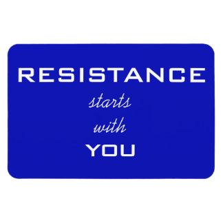 Magnet Flexible La résistance commence par vous, texte blanc sur
