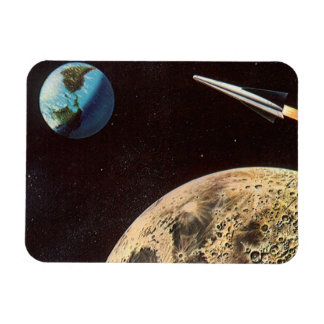 Magnet Flexible La science-fiction vintage, bateau de Rocket