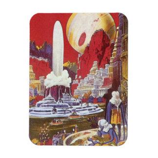Magnet Flexible La science-fiction vintage, la ville perdue de