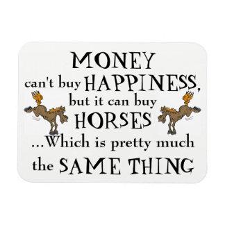 Magnet Flexible L'argent ne fait pas le bonheur - l'aimant de