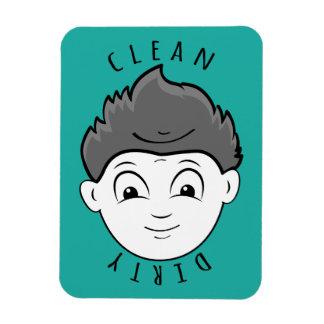 Magnet Flexible Lave-vaisselle barbu sale d'homme de garçon propre