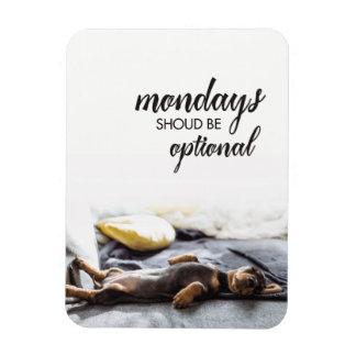 Magnet Flexible Le chiot lundi de doxie de sommeil devrait être