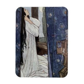 Magnet Flexible Le Marianne, poème par seigneur Tennyson d'Alfred,