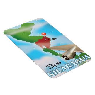 Magnet Flexible Le Nicaragua par l'affiche de vacances d'air