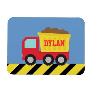 Magnet Flexible Les enfants jaunes rouges de camion à benne