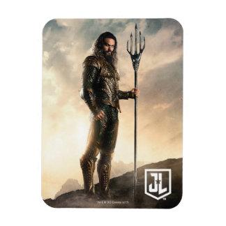 Magnet Flexible Ligue de justice | Aquaman sur le champ de