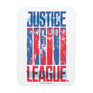 Magnet Flexible Ligue de justice art bleu et rouge de   de groupe