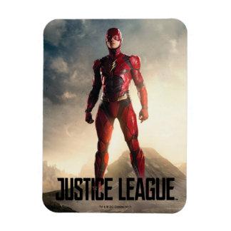 Magnet Flexible Ligue de justice | l'éclair sur le champ de