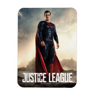 Magnet Flexible Ligue de justice | Superman sur le champ de