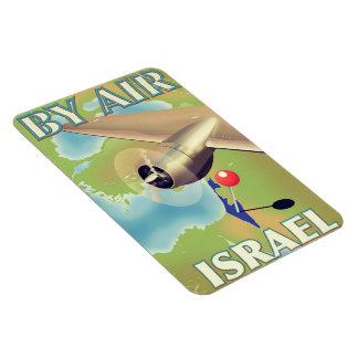 Magnet Flexible L'Israël par l'affiche vintage de voyage d'air