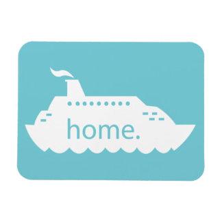 Magnet Flexible Maison de bateau de croisière - bleu