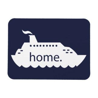 Magnet Flexible Maison de bateau de croisière - bleu marine