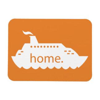 Magnet Flexible Maison de bateau de croisière - orange