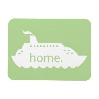 Magnet Flexible Maison de bateau de croisière - vert clair