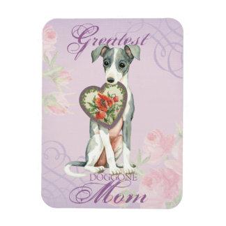 Magnet Flexible Maman de coeur de lévrier italien