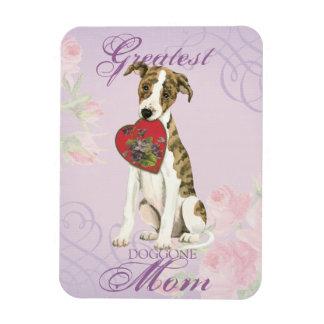 Magnet Flexible Maman de coeur de whippet