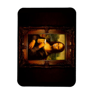 Magnet Flexible Mona Lisa - bière de Mona Lisa - Lisa-bière drôle