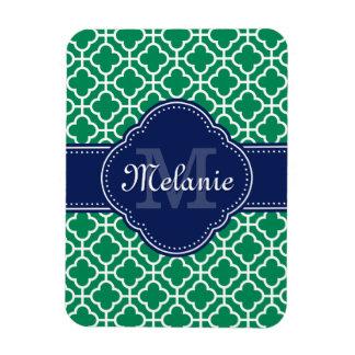 Magnet Flexible Monogramme marocain blanc de marine de motif de